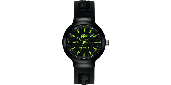 Pánské hodinky Lacoste Borneo černo-zelené