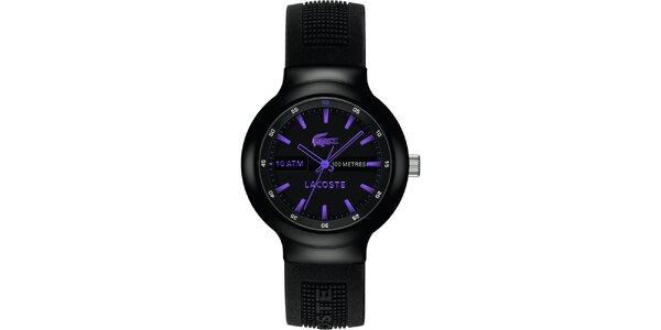 Pánské hodinky Lacoste Borneo černo-fialové