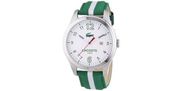 Pánské hodinky Lacoste Auckland zelené s proužkem