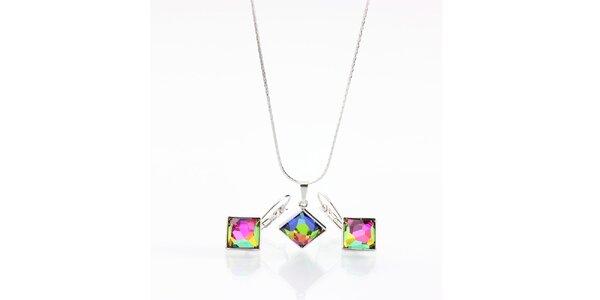 Set duhových náušnic a náhrdelníku Laura Bruni