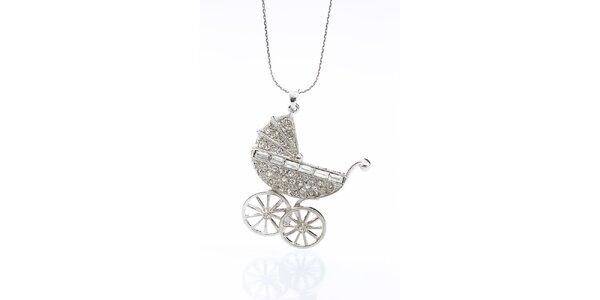 Dámský náhrdelník s kočárkem Laura Bruni