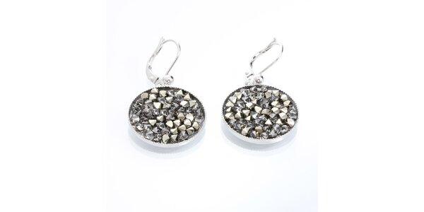 Dámské kulaté náušnice s krystaly Laura Bruni