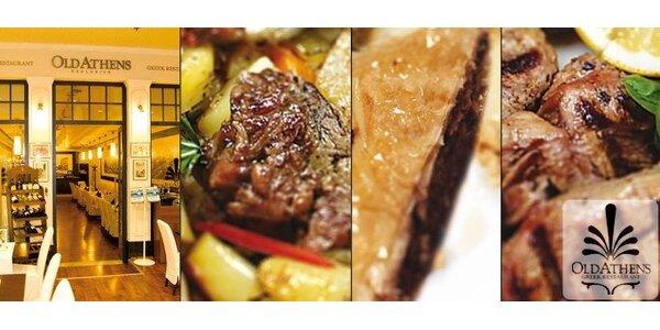 345 Kč za pestrou 3chodovou večeři v řecké restauraci Old Athens!