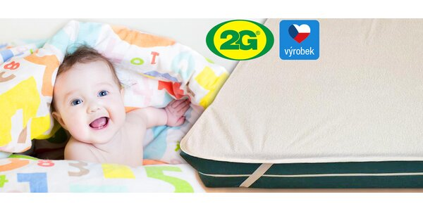 2 až 3 ks nepropustných matracových chráničů