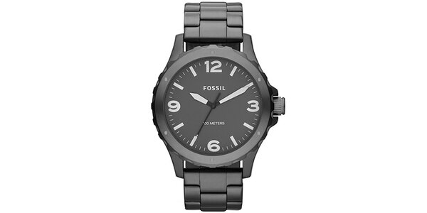 Pánské tmavě šedé hodinky z nerezové oceli Fossil