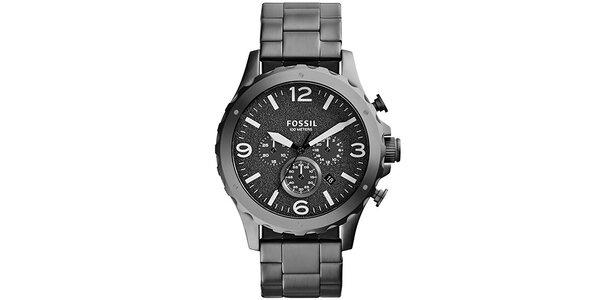 Pánské šedé analogové hodinky Fossil
