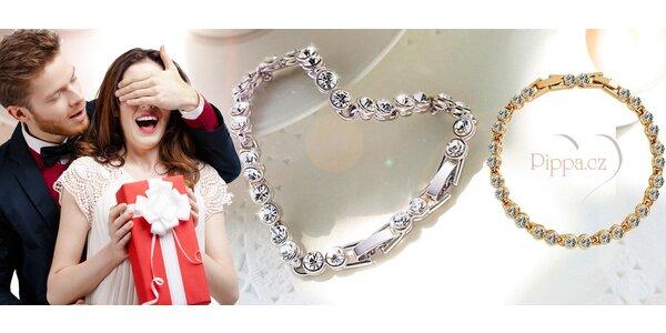 Luxusní náramek s krystaly Swarovski