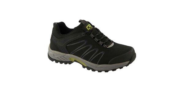 Pánské pevné šedo-černé boty Crosby
