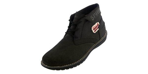Pánské černé kotníkové boty Crosby