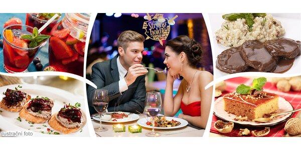 Valentýnské menu pro dva ve Strongholdu