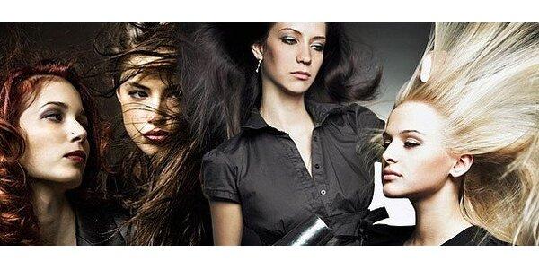 Luxusní vlasová péče včetně střihu a melírování