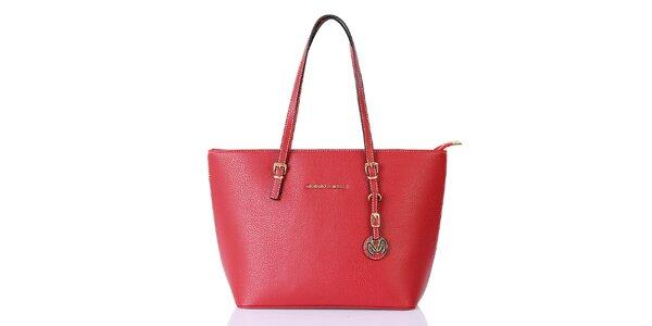 Dámská červená kabelka s přívěskem Giorgio di Mare
