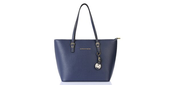 Dámská modrá kabelka s přívěskem Giorgio di Mare