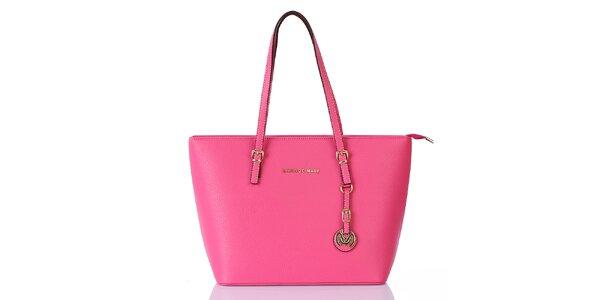 Dámská sytě růžová kabelka s přívěskem Giorgio di Mare