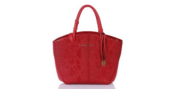 Dámská červená vzorovaná kabelka Giorgio di Mare