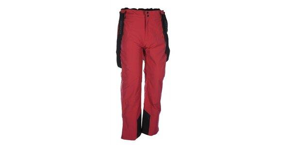 Pánské červené lyžařské kalhoty se šlemi Envy