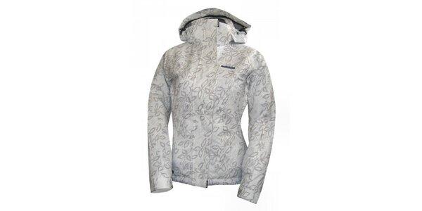 Dámská bílá lyžařská bunda s šedým potiskem Envy