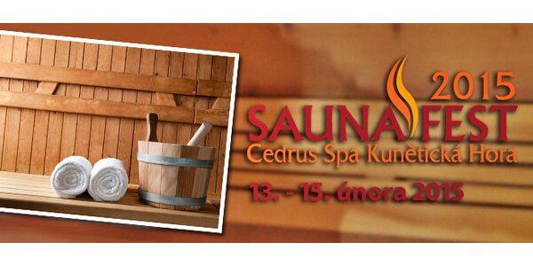 Desítky saunových ceremoniálů zažijte na akci SaunaFest 2015