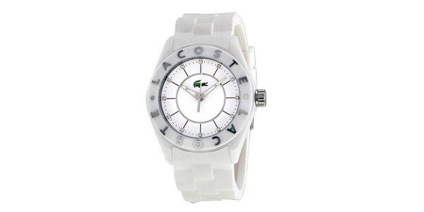 Dámské bílé hodinky se silikonovým páskem Lacoste