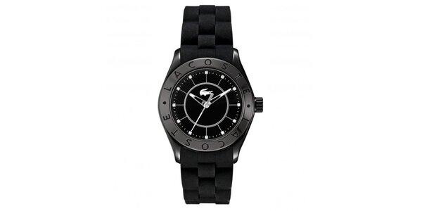 Dámské černé hodinky se silikonovým páskem Lacoste