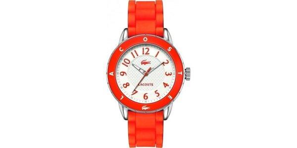 Dámské červené hodinky Lacoste