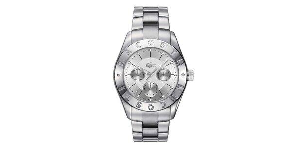 Dámské ocelové hodinky ve stříbrné barvě Lacoste