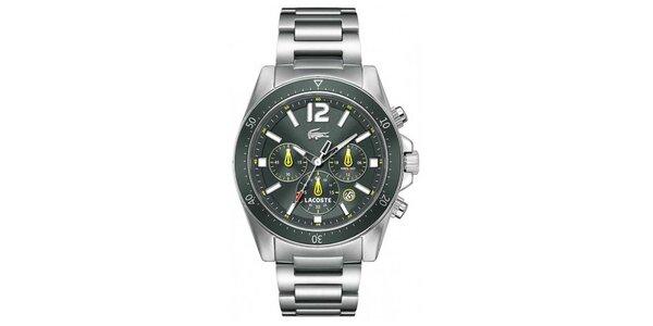 Pánské hodinky ve stříbrné barvě s tmavým ciferníkem Lacoste