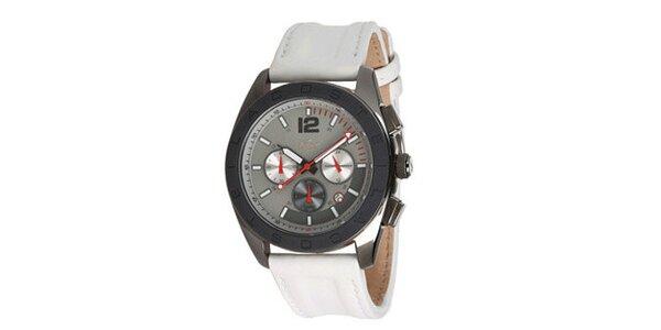 Pánské analogové hodinky s bílým řemínkem Lacoste