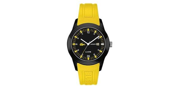 Pánské hodinky se žlutým páskem Lacoste