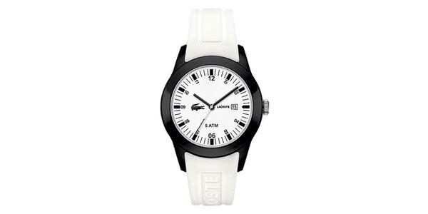 Pánské hodinky s bílým páskem Lacoste