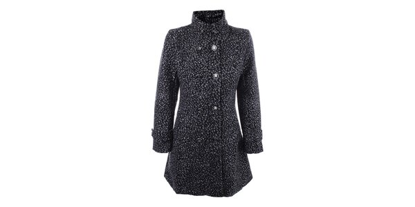 Dámský šedo-černý dvouřadý kabát Dislay DY Design
