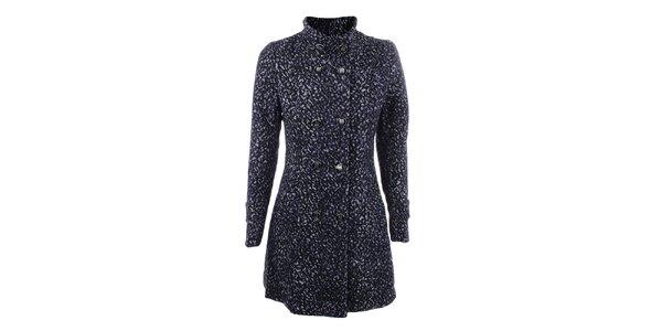Dámský modrý kabát DY Dislay Design se vzorkem