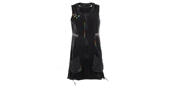 Dámská černá tunika na zip Dislay DY Design