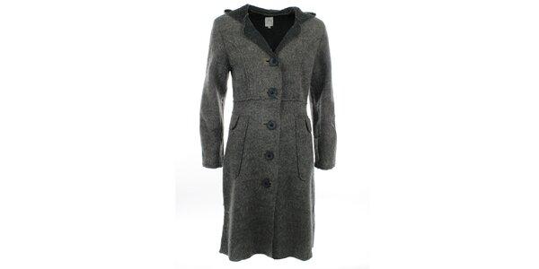 Dámský dlouhý šedý kabát Dislay DY Design