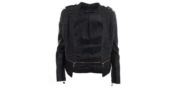 Dámská černá bunda se zipy Dislay DY Design