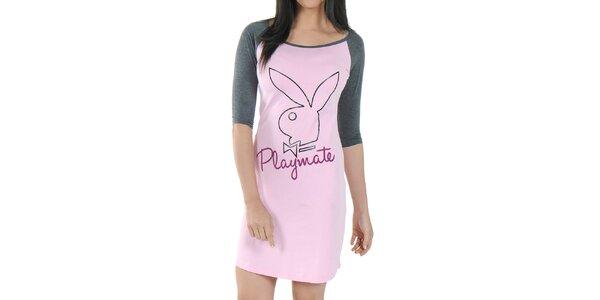 Dámská růžová noční košile Playboy