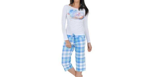 Dámské modro-bílé pyžamo Playboy