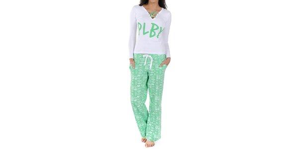 Dámské bílo-mentolové pyžamo Playboy