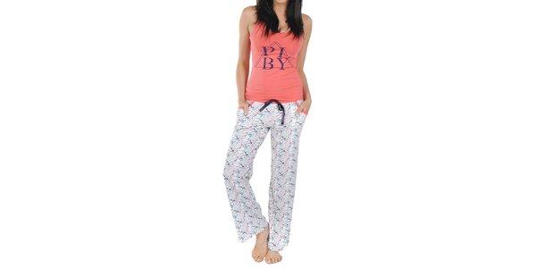 Dámské pyžamo s broskvovým tílkem Playboy