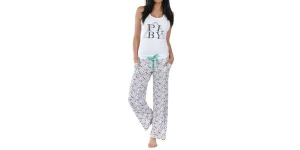 Dámské pyžamo s bílým tílkem Playboy