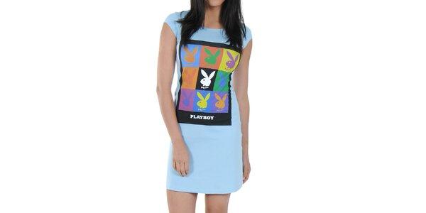 Dámská noční košile Playboy - světle modrá