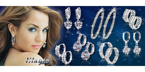 Nádherné náušnice s třpytivými krystaly