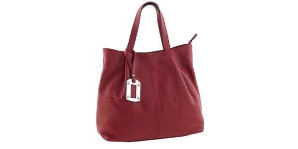 Dámská červená kabelka s visačkou Classe Regina