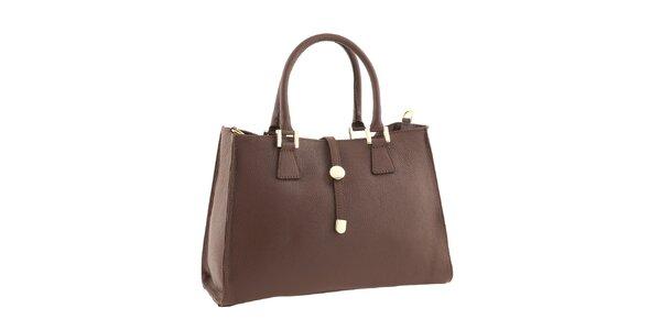Dámská kožená kabelka v barvě koňaku Classe Regina