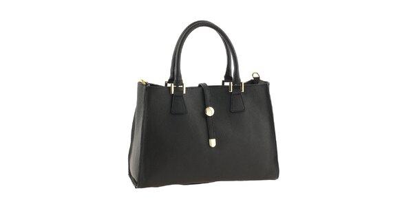 Dámská kožená kabelka v černé barvě Classe Regina