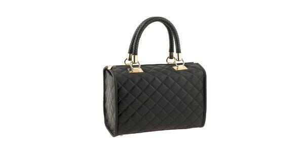 Dámská černá kabelka s prošíváním Classe Regina
