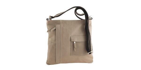 Dámská béžová kabelka s vnější kapsou Classe Regina