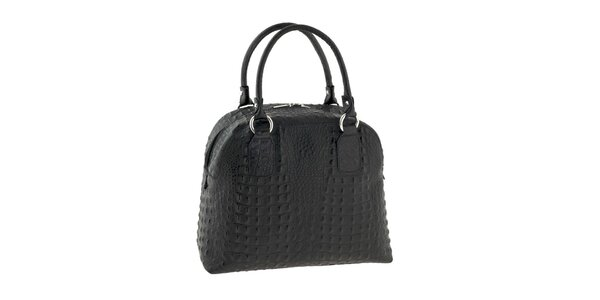 Dámská černá kabelka s krokodýlím motivem Classe Regina