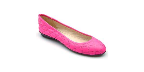 Dámské růžové prošívané baleríny Keddo