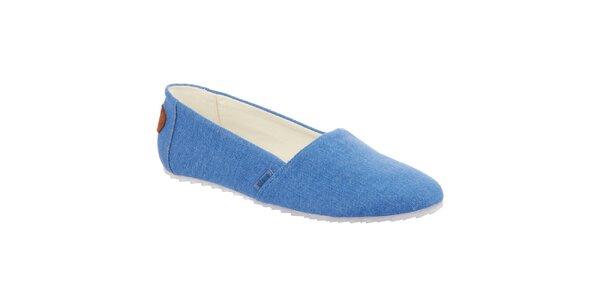 Dámské modré nazouvací boty Keddo